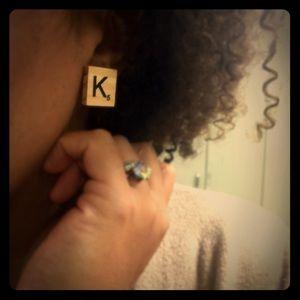 Jewelry - Scrabble Tile Earrings
